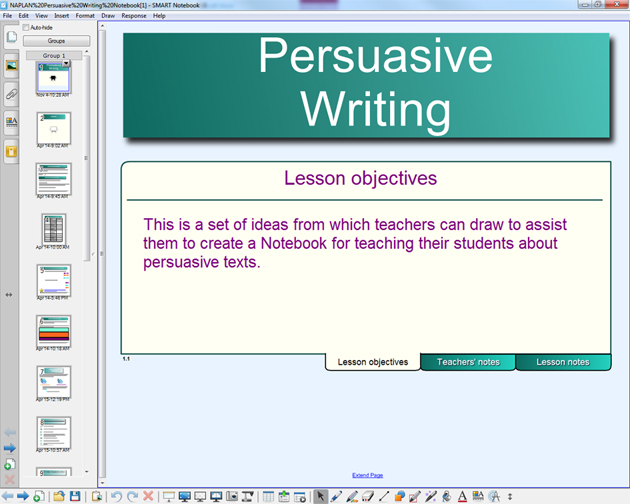 persuasive writing interactive